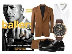 """Dwayne ""The Rock"" Johnson"" by velvy on Polyvore featuring Jean-Paul Gaultier, Burberry, Citizen, Stacy Adams, men's fashion and menswear"
