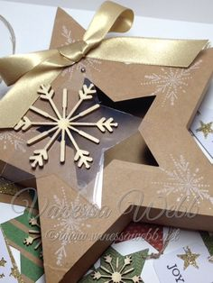 Gift Box and Tags idea using Many Merry Stars Kit by Vanessa Webb Independent Stampin' Up! Demonstrator www.vanessawebb.stampinup.net
