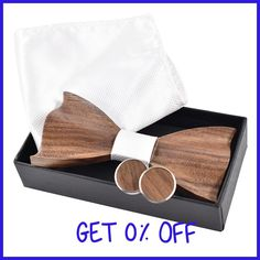 New 2017 3D wooden tie Cufflinks fashion wood bow tie wedding dinne3D Handmade corbata Wooden Ties Gravata set