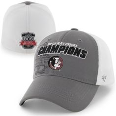29.95  47 Brand Florida State Seminoles (FSU) 2013 BCS National Champions  Overtime Contender Flex Hat - Gray White 278177a45c4f