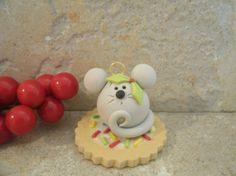 Ratón y galleta - ornamento de la Navidad