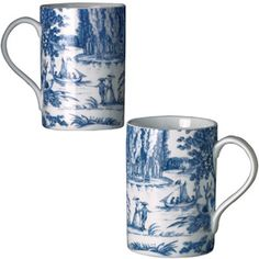 French Toile Mugs