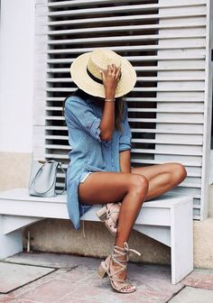 canotier hat sombrero accessories for summer oufit street style2