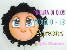 Básicos - Pintura de ojos Modelo O-13 - Expresiones - #TijeritasManualidades - YouTube