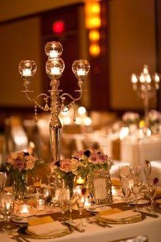 Candelabra centerpiece #elegantwedding #classicwedding #candles #centerpiece #weddingdecor