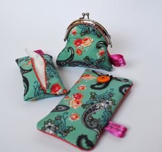 Coin Purse Tissue Pouch and Phone Case set by HandmadebyLigia