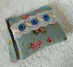 Vintage Bouquets fabric coin purse £6.00