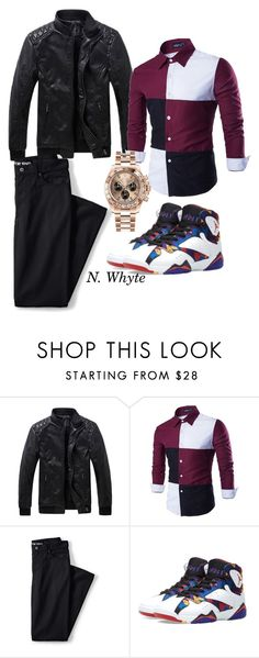 """night out"" by vannessa-cmlv on Polyvore featuring Lands' End, Jordan Brand, Rolex, men's fashion and menswear"