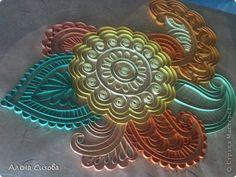 Картина панно рисунок Квиллинг Солнышко Бумага фото 14