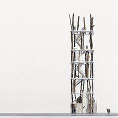 建築は模型も面白い。想像力溢れるクリエイティブな模型。9つ【Architecture】 フォレストタワー
