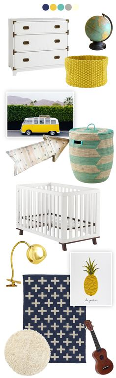 Baby Boy Nursery Inspiration via @LovelyIndeed.  These colors are perfect!  (If it's a girl, you can always add pops of coral/rose too!)