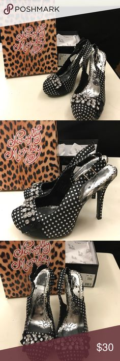 Shoes Naughty Monkey brand with with mine stones black and white shoes naughty monkey Shoes Heels