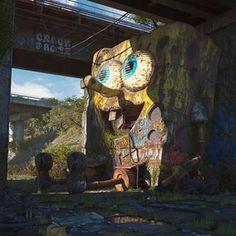 Filip Hodas (@hoodass) • Instagram-foto's en -video's Futurama, Contemporary Artists, Modern Art, Street Art, Hello Kitty, Graffiti, Mickey Mouse, Rock Sculpture, Photoshop