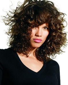 bob curly hair with bang >> I think I have a winner! This could be the one :)