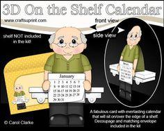 3D On the Shelf Everlasting Calendar Kit Old Man Mason on Craftsuprint - View Now!