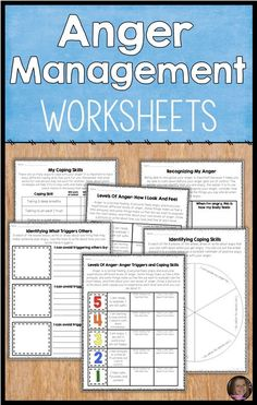These upper elementary anger management worksheets will help your students recognize anger, identify anger triggers and use healthy coping skills. They are a great addition to your anger management lessons, small groups. These can be used in school counseling, for character education and to help kids use self control and better handle their feelings!