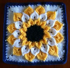 Flor granny en punto cocodrilo (Flower granny at crocodile) | Crochetisimo