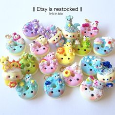 EDIT: SOLD ETSY IS RESTOCKED!!! ~ link in bio!! ••• After hours of making charms and listing them I've finally restocked!!! I feel so relieved... ~ Thank you!! Bye!!