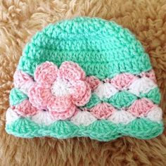 Crochet Baby Beanie.