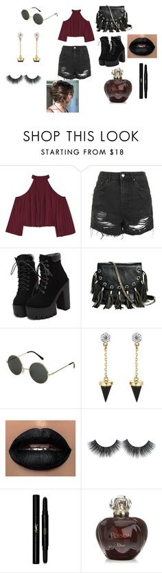 """""""Untitled #10"""" by harudakiluver14 ❤ liked on Polyvore featuring W118 by Walter Baker, Topshop, GUESS by Marciano, Brixton, Yves Saint Laurent and Christian Dior"""