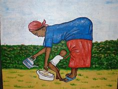 Improving health in Guinea. History, Health, Illustration, Poster, Painting, Art, Art Background, Historia, Salud