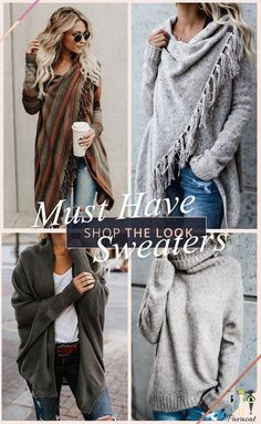 Must have! Pick up these chic fantastic sweaters~ Various chic styles include: oversize, tassel design... Have some fun in the autumn/winter with them! FREE shipping ~ SHOP NOW!