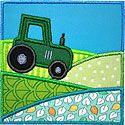 Tractor Fields Applique Design