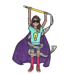 Girl Raises More Than $2,000 For The ACLU With 'Everyday Superheroes' Art | The Huffington Post