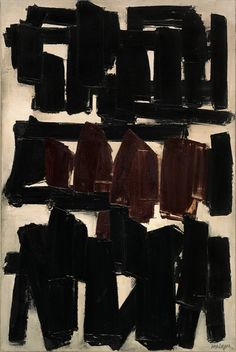 Pierre Soulages, 1956 Courtesy of Solomon R. Guggenheim Museum, New York
