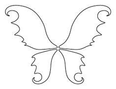 Fairy Wings Pattern Templates Printable Free Stencil Stencils Printables
