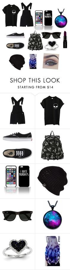 """""""School on monday"""" by pandabearcc ❤ liked on Polyvore featuring Vans, UGG Australia, Ray-Ban, Kevin Jewelers, Smashbox, women's clothing, women's fashion, women, female and woman"""