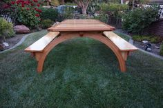 Arched Legs Picnic Table - Woodworking creation by lanwater