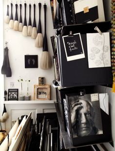 Lollos Design Files: Sunday Times: My office needs a restyle to transform it back into a creative space. For the last few months it's been a bit of a white-on-white dumping ground, packed with wallpaper samples, props and other bits and bobs from second-hand shops and markets. Add to that my magazines, postcards and photos and it's 'organised chaos', which I must admit that I do find quite comforting at times.  Image from Danish artist Tenka Gammelgaard's Studio. Photo by Idha Lindhag.