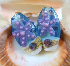 Starfish Lampwork Bead  Light Purple Starfish by TheBeadBungalow, $4.50