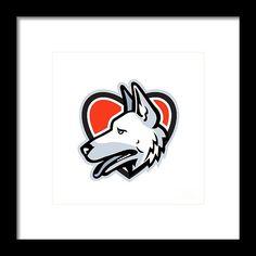 Mascot Framed Print featuring the digital art German Shepherd Dog Heart by Aloysius Patrimonio Heart Frame, German Shepherd Dogs, Fine Art America, Digital Art, Framed Prints, Retro, Artwork, Work Of Art, Auguste Rodin Artwork
