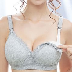 e6d5de1585 Comfortable Seamfree Cotton Wireless Anti Sagging Front Button Nursing Bras  On Sale - NewChic Mobile Nursing