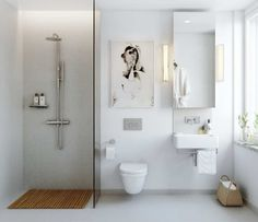 Bathroom -- simple, functional, clean -- I like!