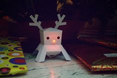 DIY Electronics for the Holidays: Papertronics Lunar Modules: Rudolph | Sparkle Labs, via Flickr.