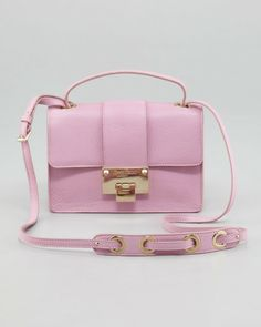 Jimmy Choo Pink Rebel Leather Crossbody Bag Peony