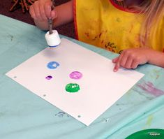 Painting with Marshmallows, for a camping unit