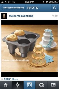 This would be so fun for a kid party to decorate their own cakes