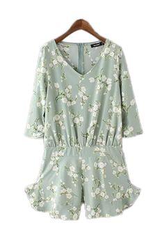 Goodnight Macaroon 'Milena' Vintage Style Floral Print Romper