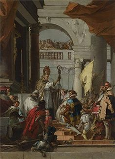 Oil Painting Giovanni Domenico Tiepolo The Marriage Of Frederick Barbarossa  Printing On Perfect Effect Canvas  12 X 17 Inch  30 X 42 Cm the Best Study Gallery Art And Home Gallery Art And Gifts Is This Reproductions Art Decorative Prints On Canvas
