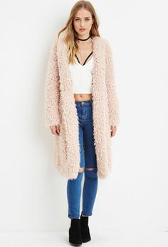 Me thinks Khaleesi needs this coat.  Hooded Faux Fur Coat | Forever 21 - 2000157281