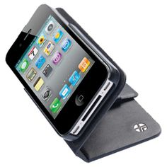 Trexta Rotating Folio for Iphone - Own it.  Love it!  Phone will rotate vertical or horizontal .  Can still use camera function and storage for one or two cards in the side pockets.