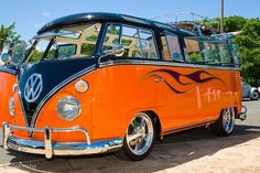black and orange Volkswagen vw bus #VWBUS ☮ re-pinned by http://www.wfpblogs.com/author/southfloridah2o/