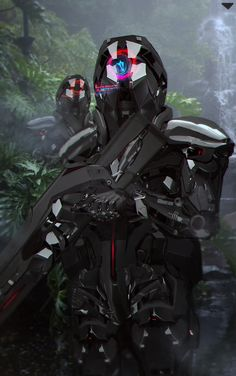A genre of science fiction and a lawless subculture in an oppressive society dominated by computer technology and big corporations. Armor Concept, Concept Art, Art Science Fiction, Mode Cyberpunk, Arte Sci Fi, Futuristic Armour, Sci Fi Armor, Future Soldier, Cyberpunk Character