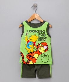 Take a look at this Green Honey Tank & Shorts - Infant by Winnie the Pooh on #zulily today!