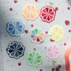 Spring flower coasters perler beads