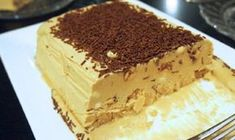 "Semifreddo is an Italian ice cream dessert which literally translates as ""half-cold"" and is basically a partially frozen ice cream. Romanian Desserts, Romanian Food, Italian Desserts, Ice Cream Desserts, Just Desserts, Parfait, Caramel, Biscuit Cake, Chocolate Coffee"